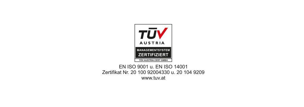TÜV Austria Zertifiziert