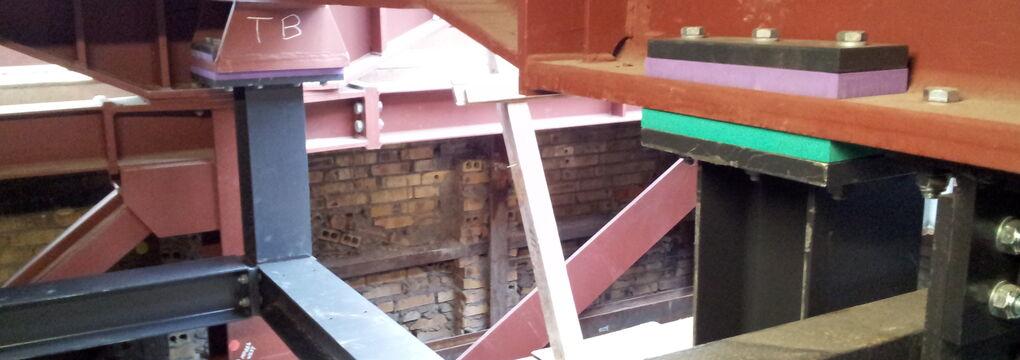 Getzner-Stahlkonstruktion Lager Seilzüge