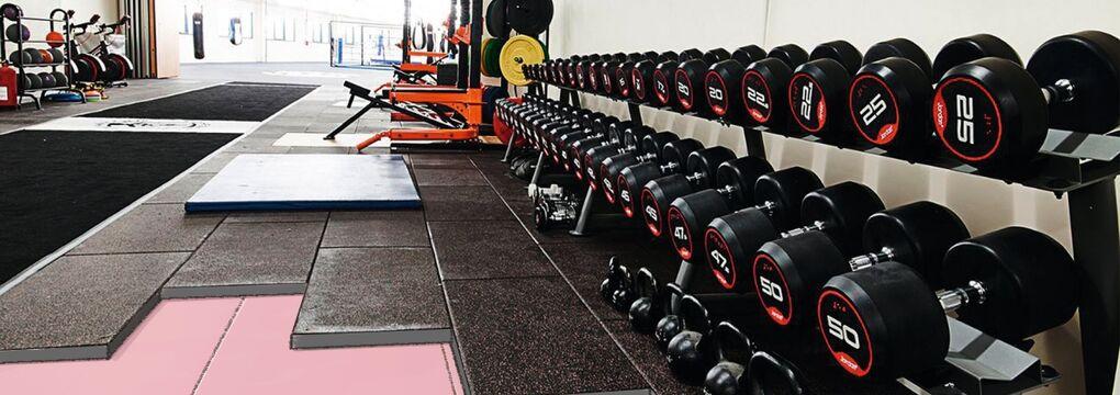 Fitnesscenter Fußboden