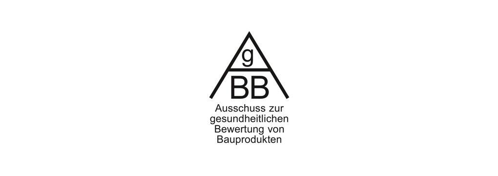 Logo Certificate Ausschuss zur gesundheitlichen Bewertung von Bauprodukten