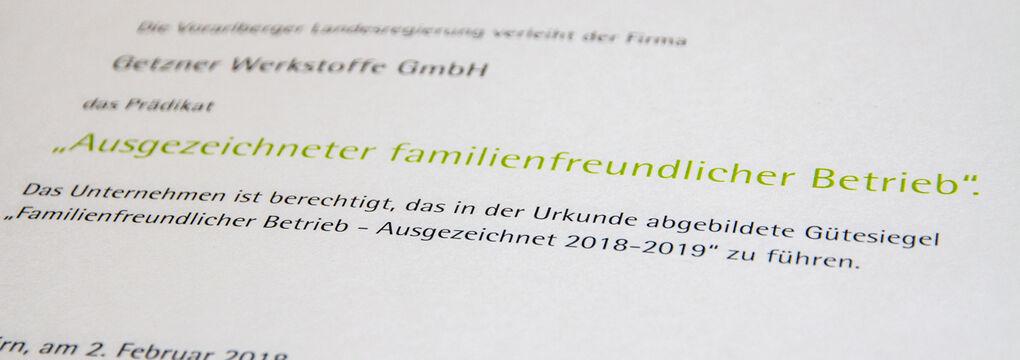 Familienfreundlicher Betrieb 2018