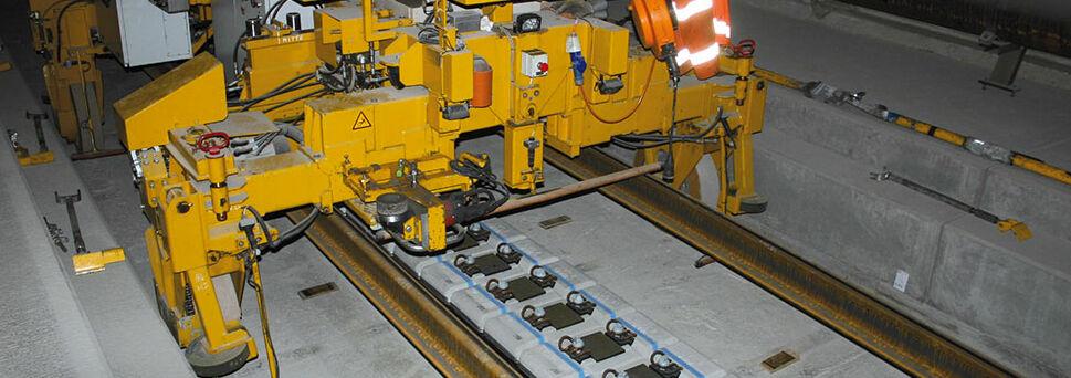 Feste Fahrbahn Gotthard Basistunnel