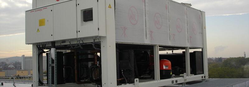 Lagerung einer Kältemaschine Isotop SE-DE