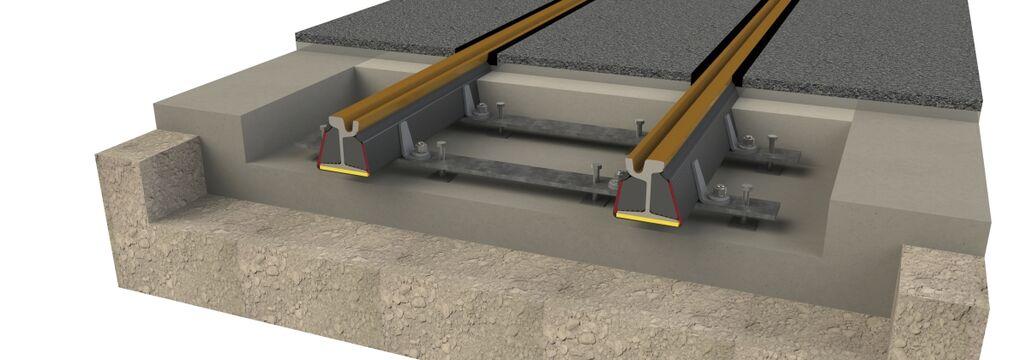 Embedded Rail Querschnitt Unterflur-Spurstange