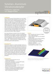 Data Sheet Sylomer Aluminium Vibration Damper DE