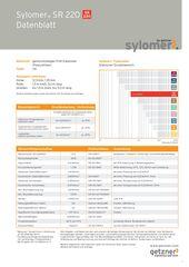 Data Sheet Sylomer SR 220 DE