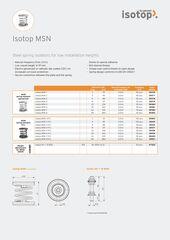 Data Sheet Isotop MSN EN