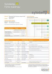 Data Sheet Sylodamp SP 500 FR
