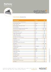 Reference List Railway Baseplate Pads EN