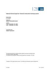 National technical approval Sylomer en