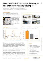 Measurement report Elastic elements for industrial heat pumps DE