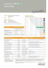 Data Sheet Sylomer SR 55 DE