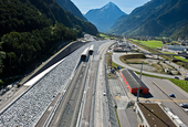 Elasticity for the track in the Gotthard Base Tunnel