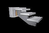 Bearing of lightweight stairs