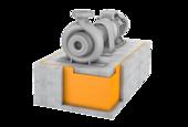 Machine foundation bearings