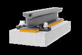 Continuous rail bearing