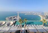 Pool bearing at the Address Residences Jumeirah Resort + Spa, Dubai