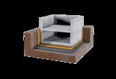 Full-surface bearings for buildings