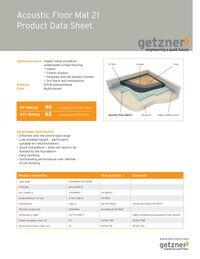 Data Sheet Acoustic Floor Mat 21 EN US