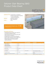 Product Data Sheet Stair Bearing SB10 EN