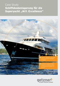 Case Study Schiffsbodenlagerung für die Superyacht MY Excellence – DE