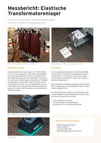 Messbericht: Elastische Transformatorenlager