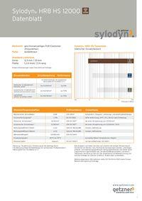 Datenblatt Sylodyn HRB HS 12000