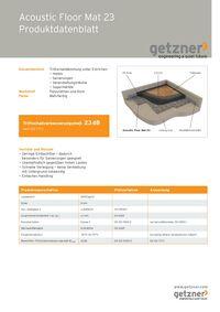 Acoustic Floor Mat 23 Produktdatenblatt