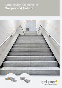 Schwingungsisolierung für Treppen und Podeste