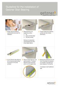 Installation guideline Getzner stair bearing en