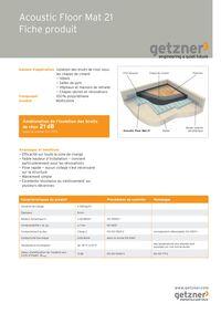 Acoustic Floor Mat 21 Fiche produit