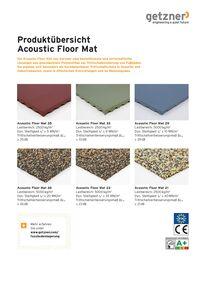 Produktübersicht Acoustic Floor Mat