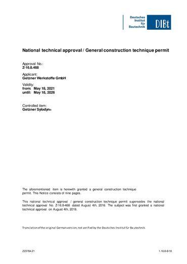 National technical approval Sylodyn en.pdf