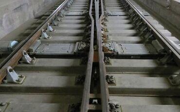 Weiche im Gotthard Basistunnel