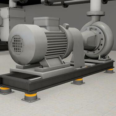 3D Model HVAC pump