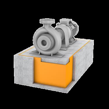Getzner-Produkte-Bau-Maschinenfundamentlagerung
