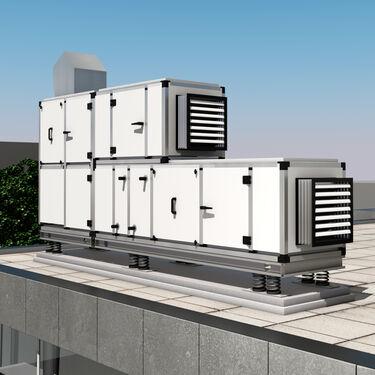 3D model HVAC AHU