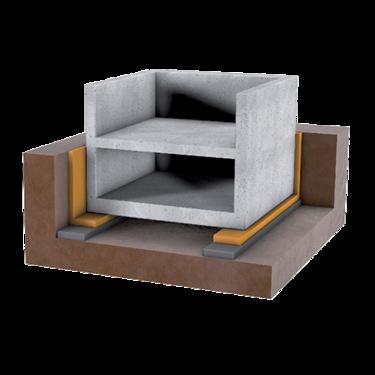 Streifenförmige Gebäudelagerung Header