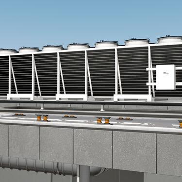 3D model HVAC cooling unit