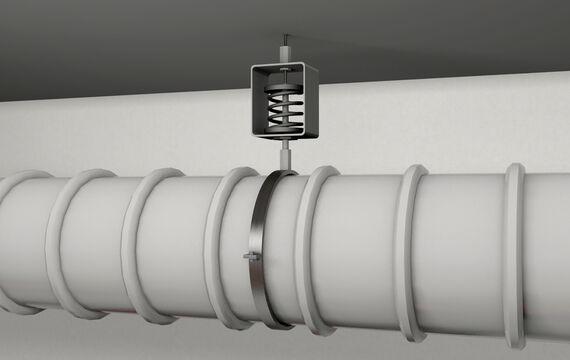 3D model HVAC pipe