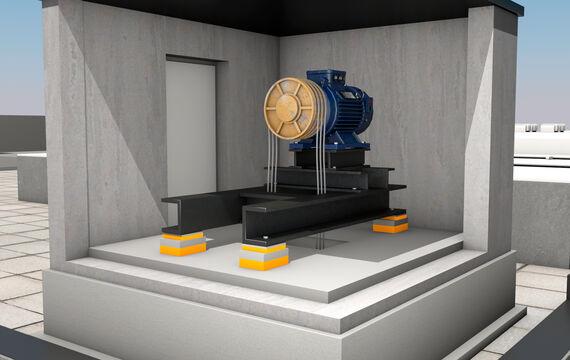 3D Hausmodell HVAC elevator
