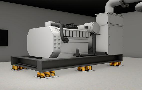 3D model HVAC cogeneration unit
