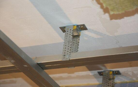 Elastische Entkopplung von Innenausbauten