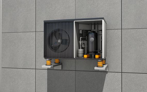 3D model HVAC compressor