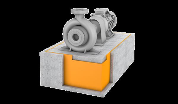 Maschinenfundamentlagerung Header
