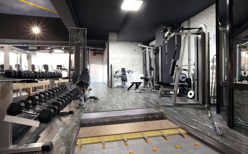Acoustic Floor Block Fitness Center